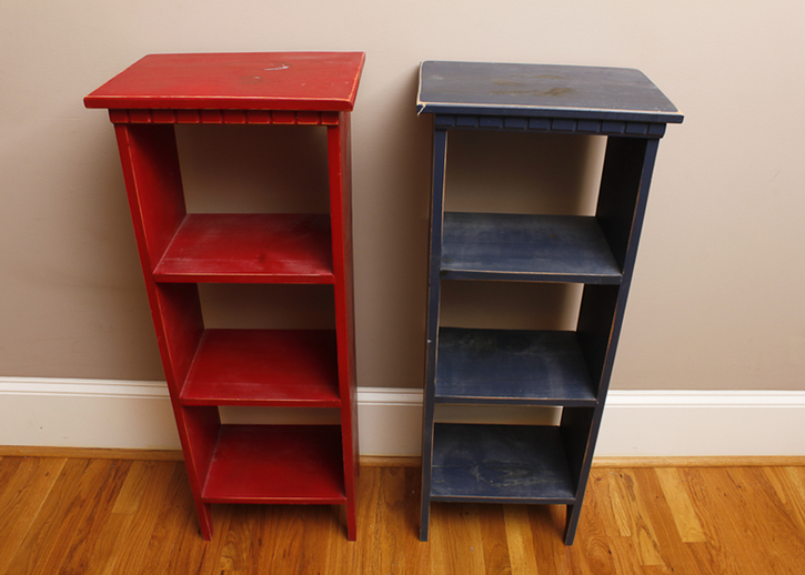 distressed shelves