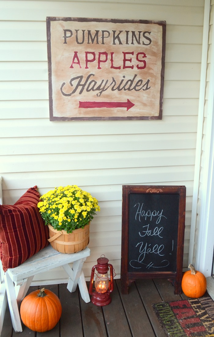 DIY Rustic Fall Sign with Chalky Finish paint | Timeless Rustic Decor For Fall