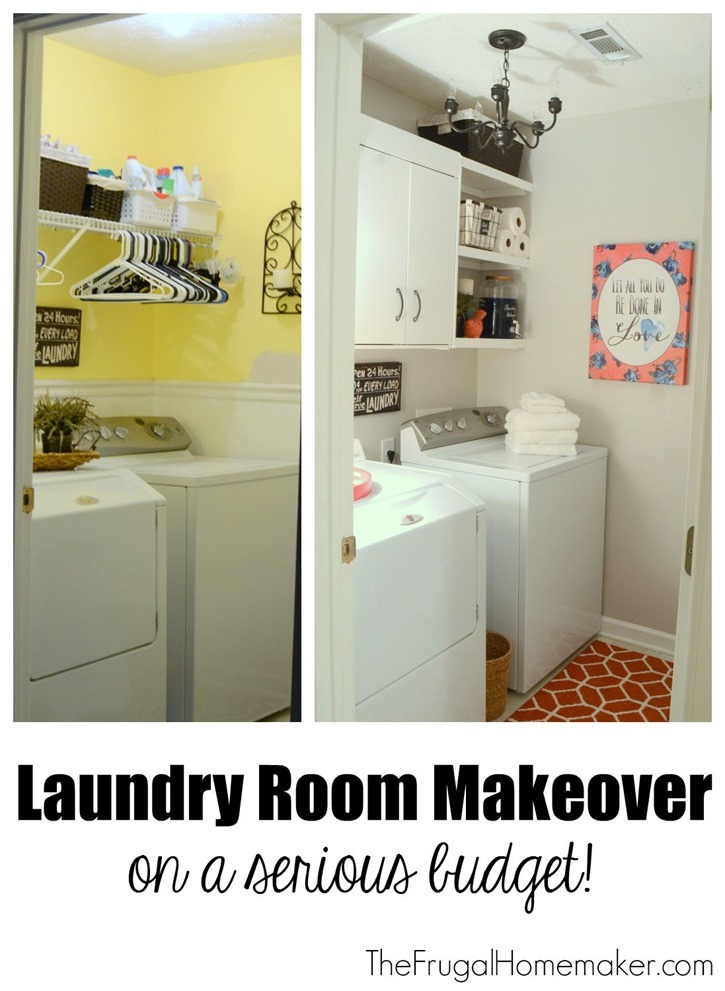 Layndry Room Makeover on a serious budget!
