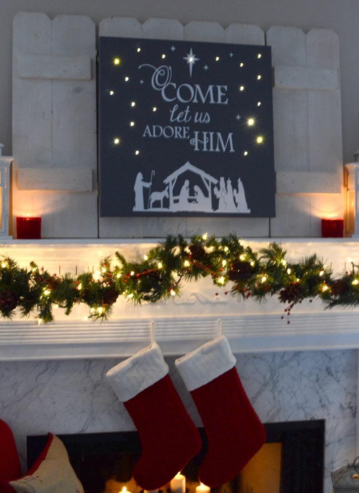 Diy Lighted Christmas Canvas Art