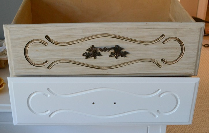 Childhood French Provincial dresser makeover