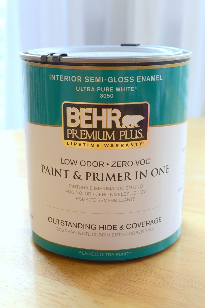 Behr Ultra Pure White in Interior Semi-Gloss Enamel Paint and Primer in One