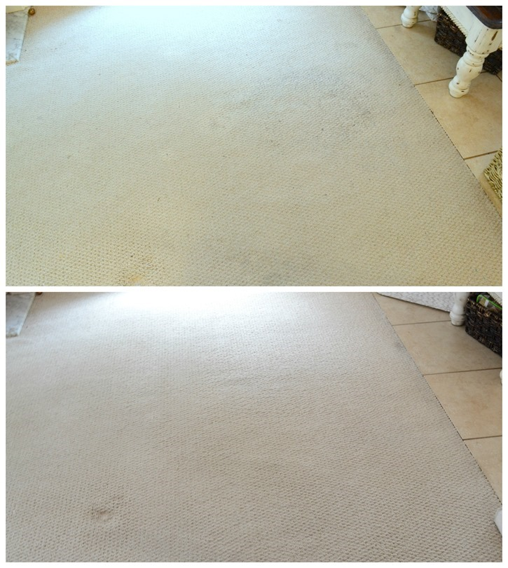 before after living room stain