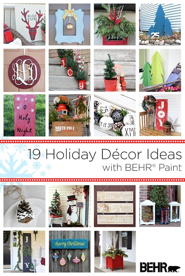 19 Holiday Ideas with Behr paint