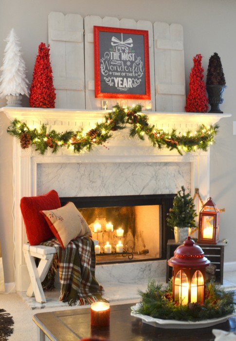 It's the most wonderful time of the year Christmas mantel