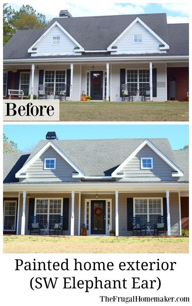 Painted exterior before and after