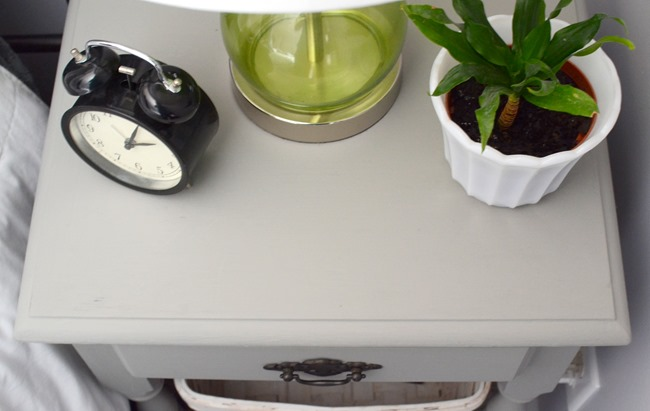 $6 gray nightstand for the guest room
