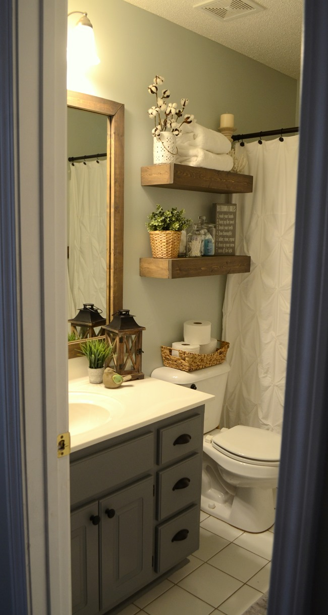 bathroom make over ideas modern farmhouse inspired bathroom makeover one room one month 100 challenge reveal 6714