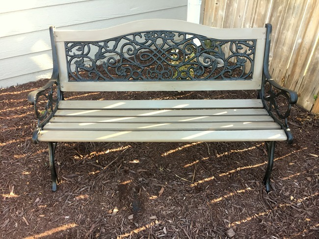 Garden Bench makeover