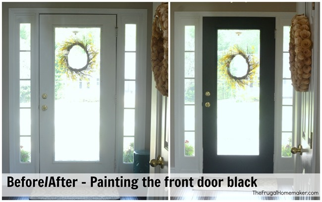 Painting the front door black
