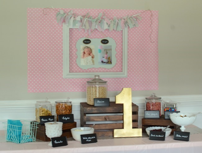 Pink, Mint & Gold 1st Birthday Party