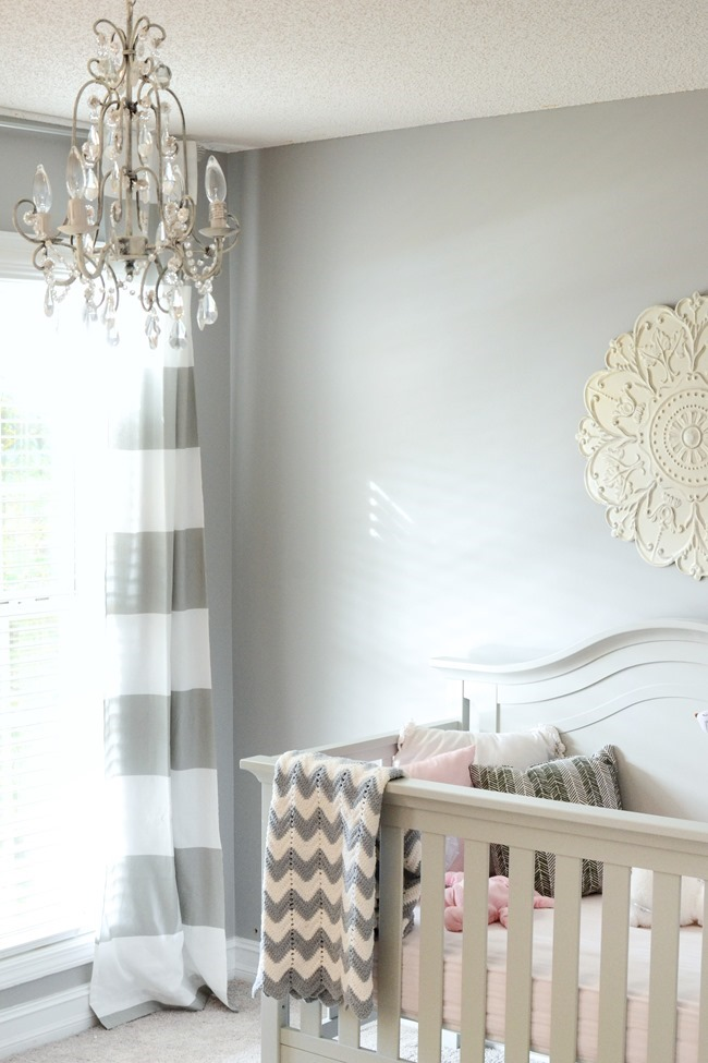 Gray and white girls nursery-1-2