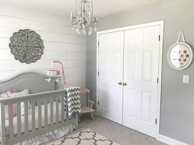 Gray and white girls nursery-10