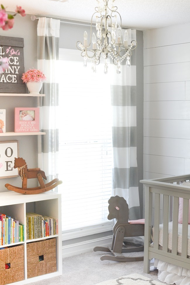 Gray and white girls nursery-13