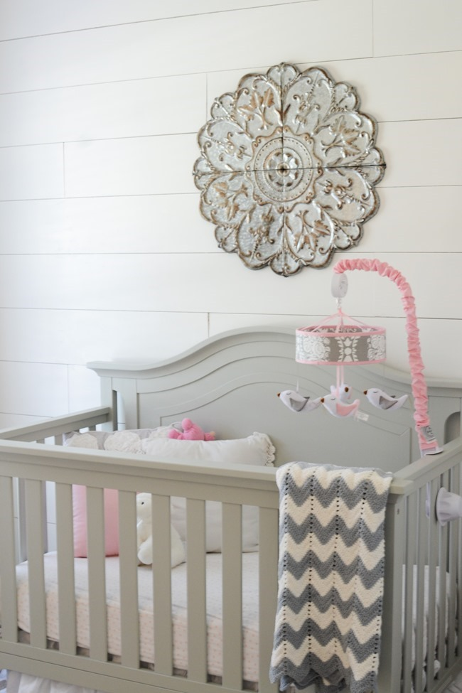 Gray and white girls nursery-15