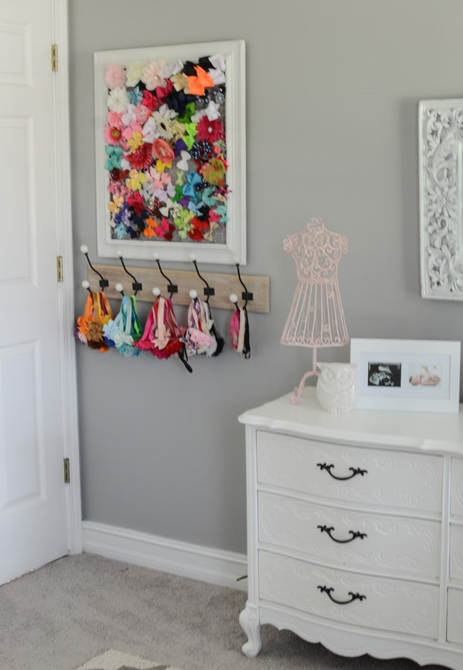 Gray and white girls nursery-19