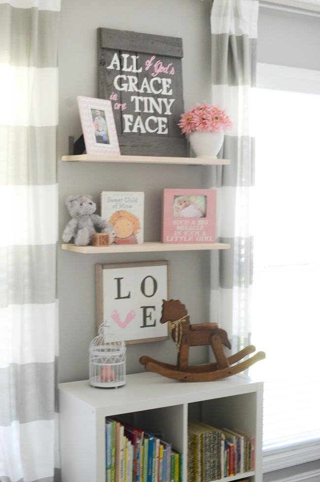 Gray and white girls nursery-20