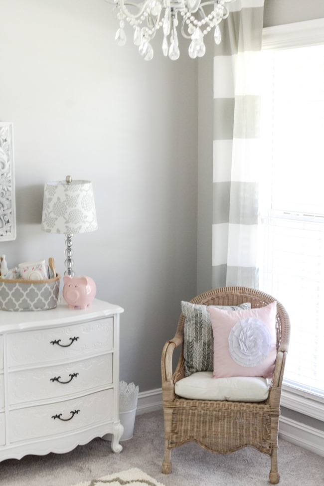Gray and white girls nursery-21