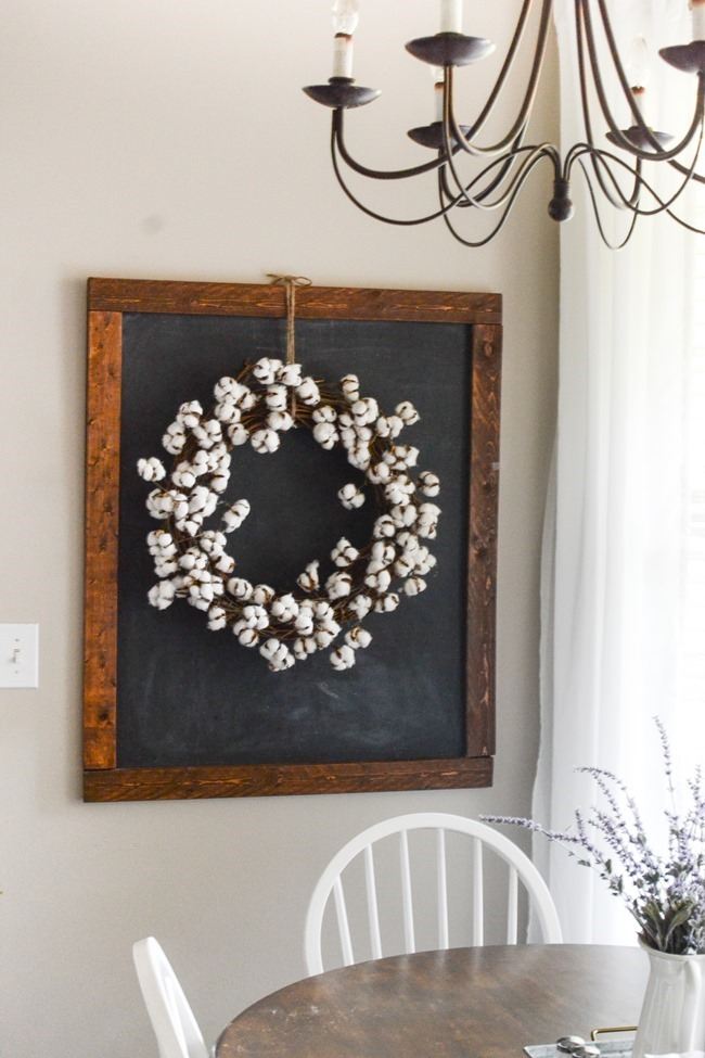 DIY Cotton Wreath (for less than $20!)
