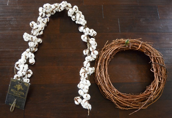 DIY Cotton Wreath-5