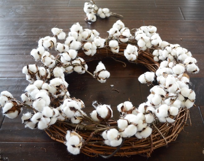 DIY Cotton Wreath