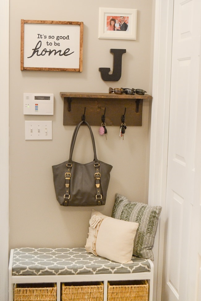 Farmhouse Style Mudroom Makeover (done for under $50!)