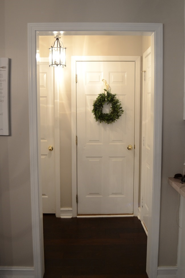 Hallway/mudroom before + my August challenge