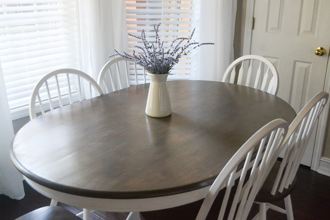Butcher block table and chairs farmhouse style makeover-1-3