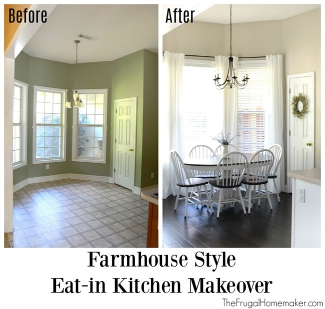 Farmhouse style Eat-in Kitchen Makeover