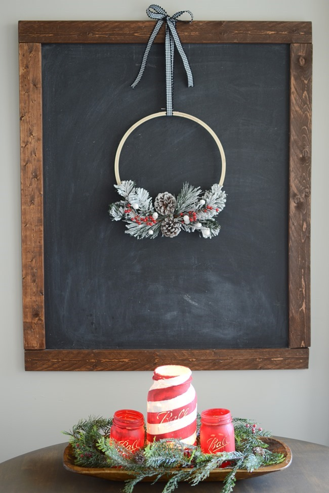 DIY Christmas Hoop Wreath-14