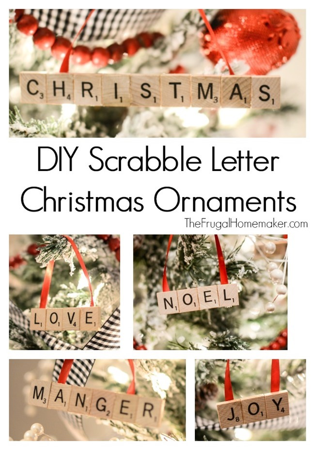DIY Scrabble Letter Christmas Ornaments