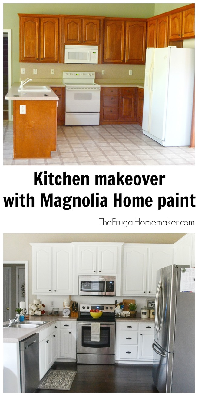 Kitchen makeover with Magnolia Home paint
