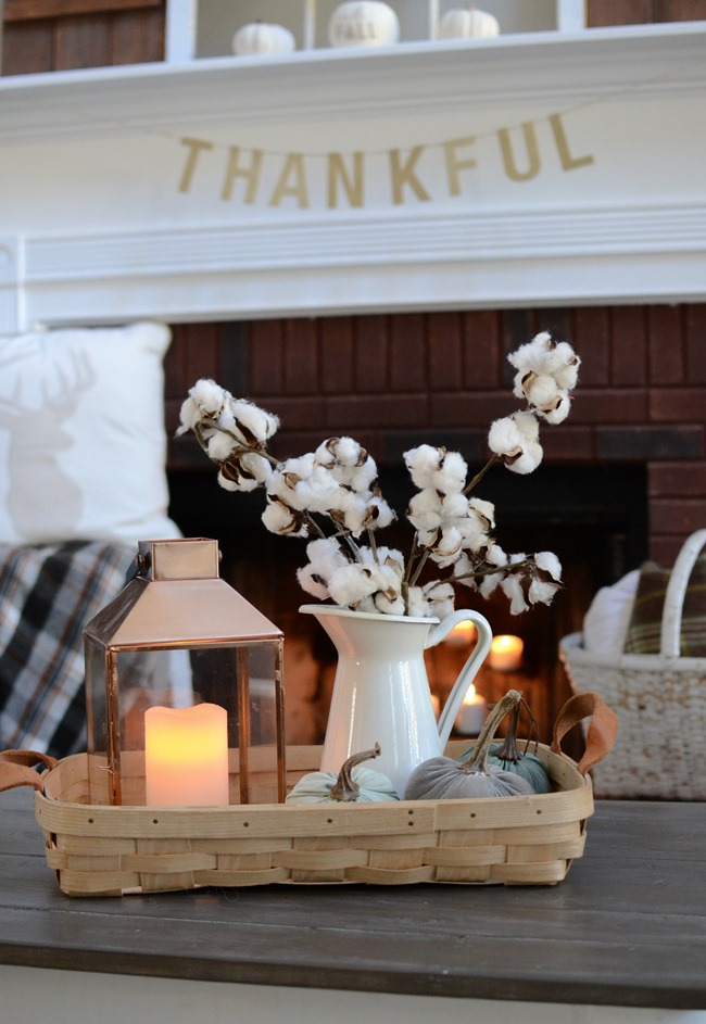 Neutral Farmhouse Fall Mantel and Living Room-11
