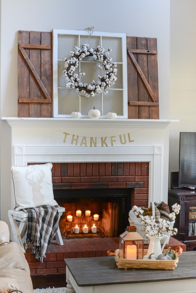 Neutral Farmhouse Fall Mantel and Living Room-5