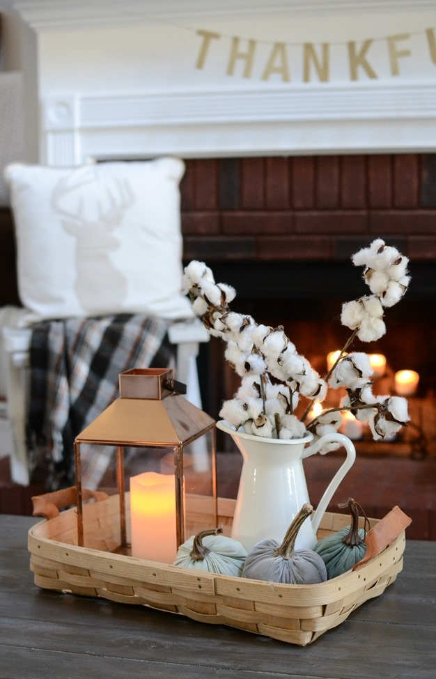 Neutral Farmhouse Fall Mantel and Living Room-6
