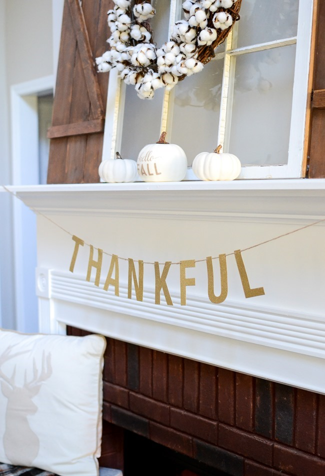 Neutral Farmhouse Fall Mantel and Living Room-7