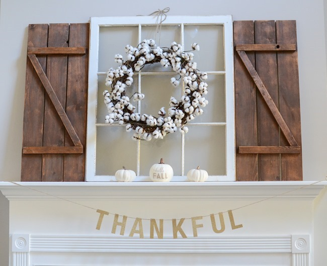 Neutral Farmhouse Fall Mantel and Living Room-8