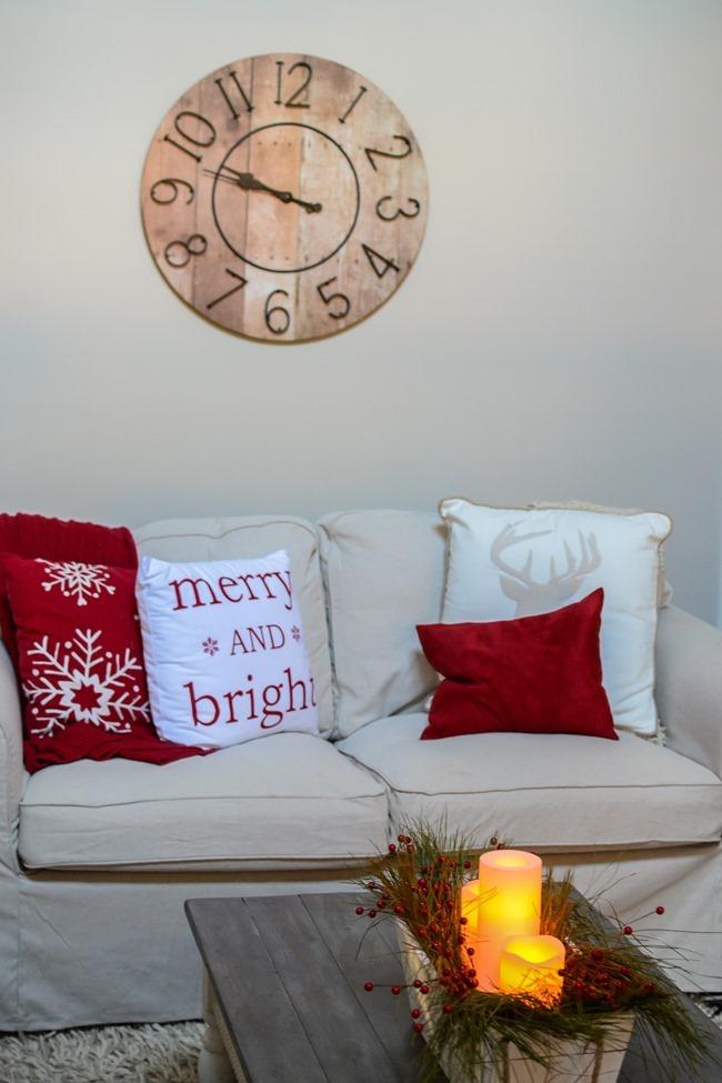 Buffalo Check Inspired Christmas Living Room-24