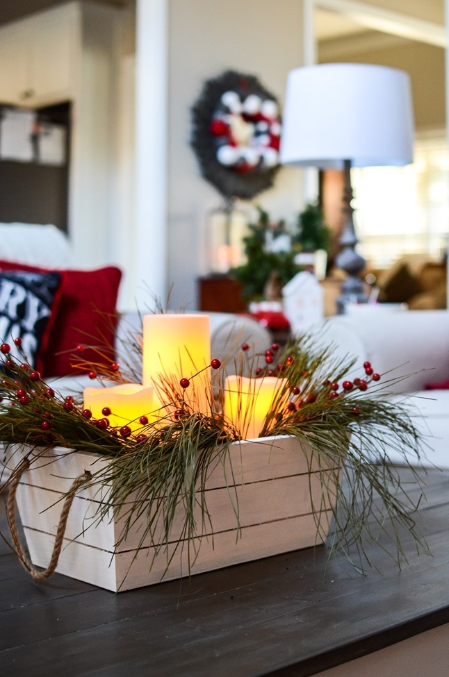 Buffalo Check Inspired Christmas Living Room-25