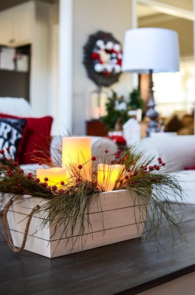 Buffalo Check Inspired Christmas Living Room-25