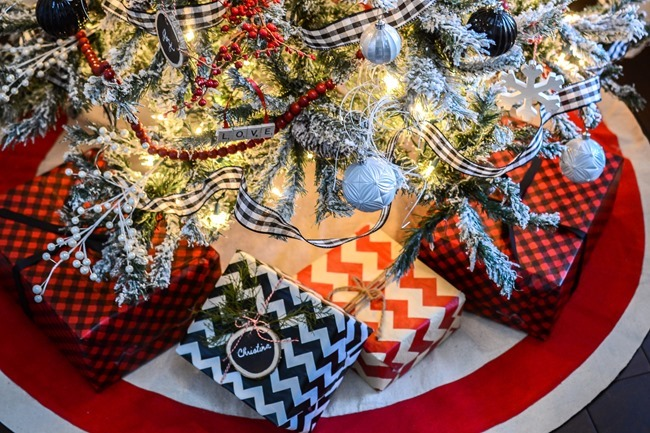 Buffalo Check Inspired Christmas Living Room-28