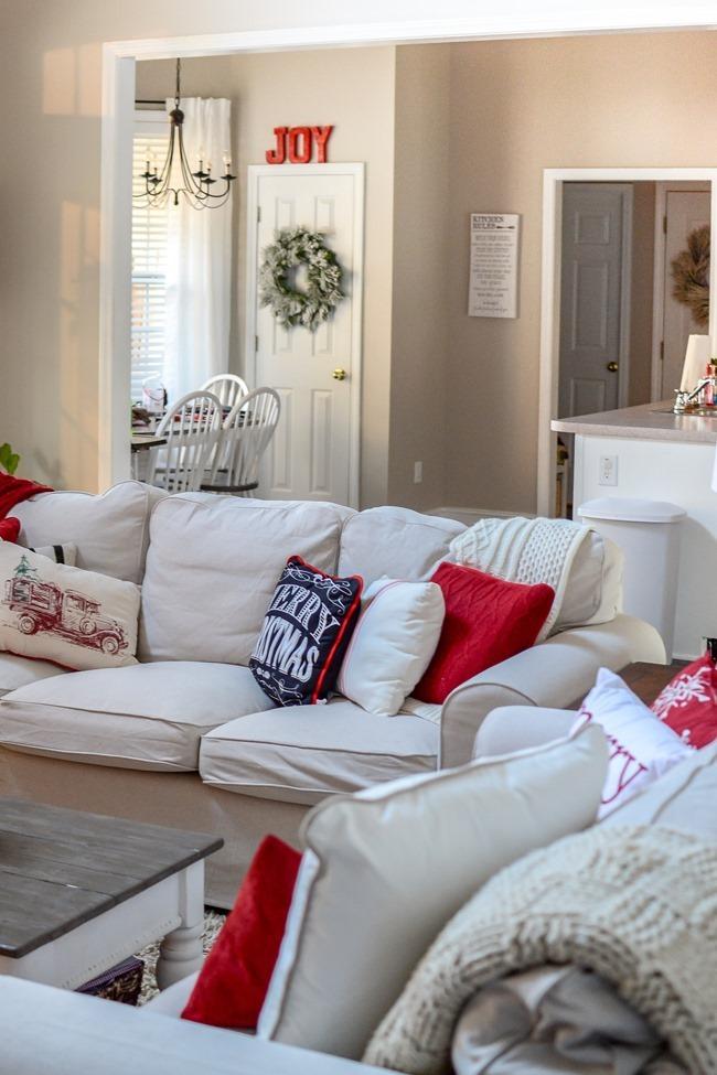Buffalo Check Inspired Christmas Living Room-30