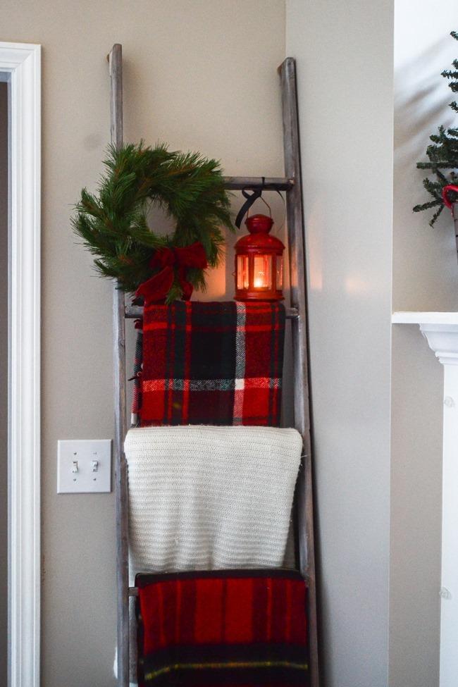 Buffalo Check Inspired Christmas Living Room-32