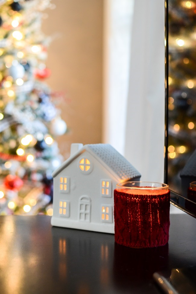Buffalo Check Inspired Christmas Living Room-4