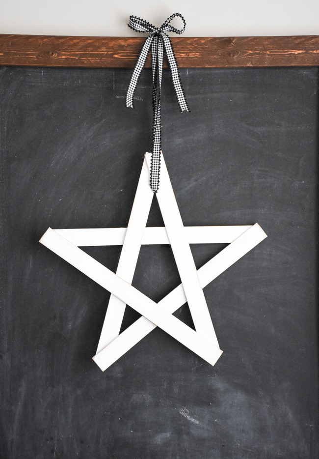DIY Christmas Wood Star