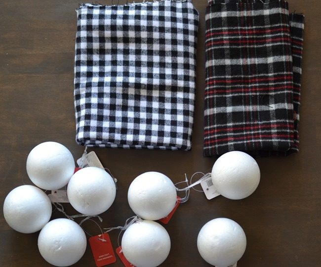 DIY Christmas flannel plaid ornaments-1