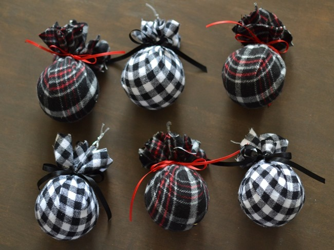 DIY Christmas flannel plaid ornaments-5