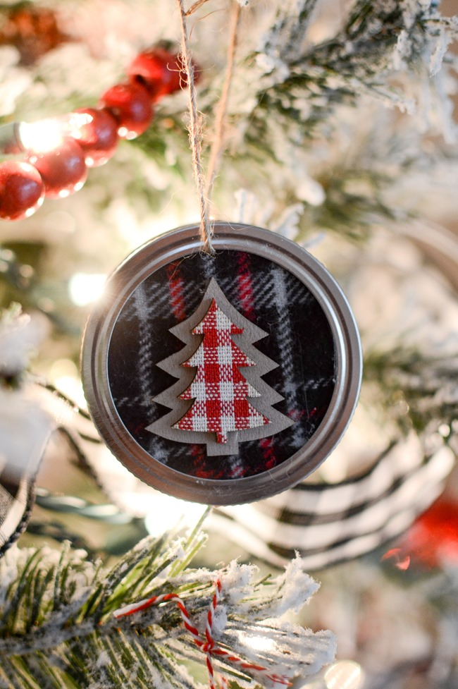 Diy Mason Jar Lid Christmas Ornaments