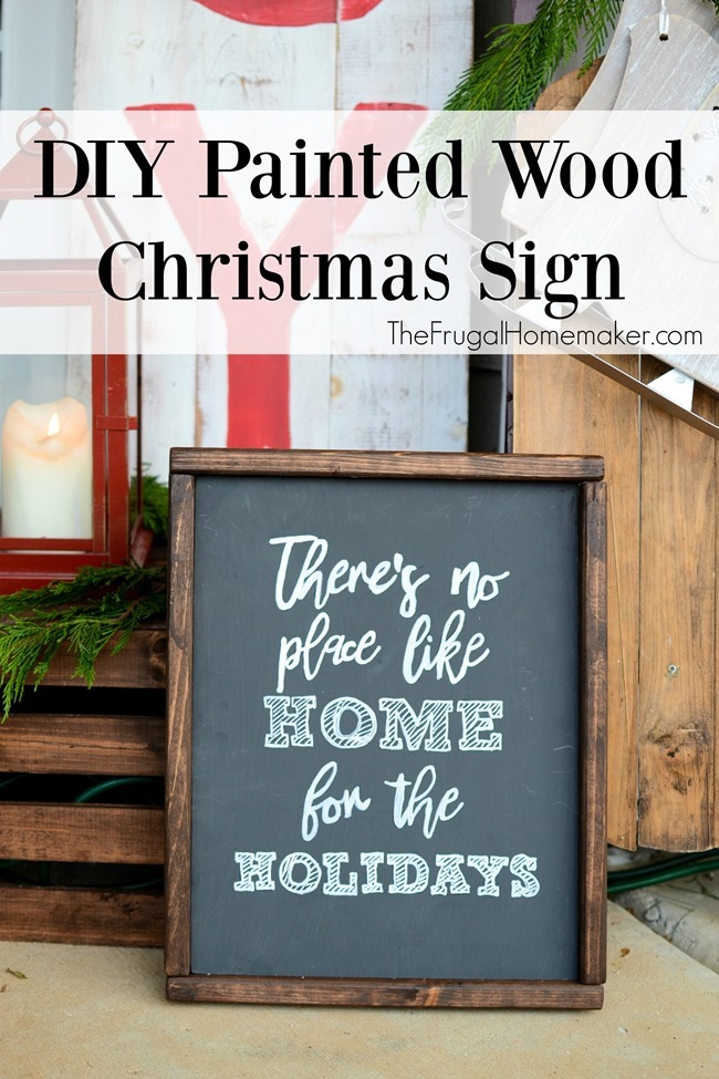 DIY Painted Wood Christmas Sign