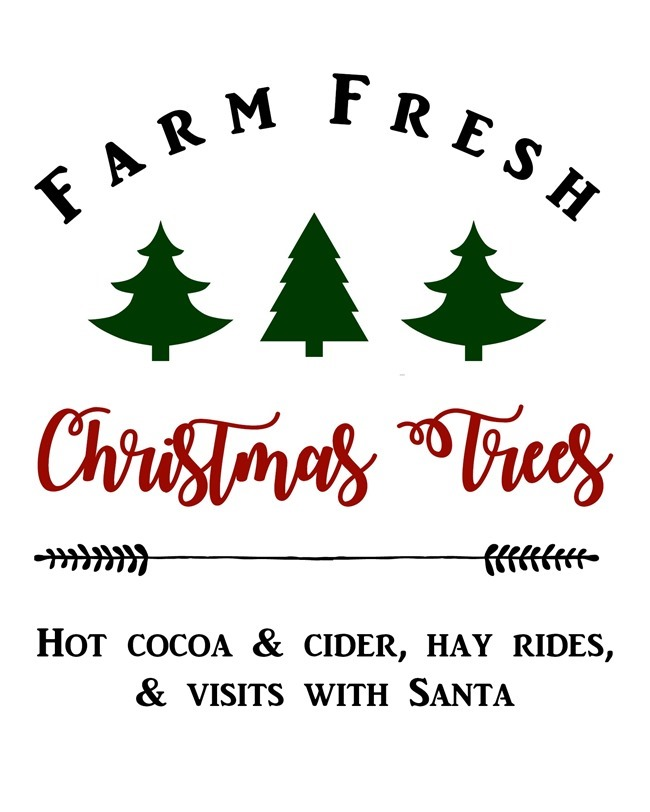 Farm Fresh Christmas Trees free printable